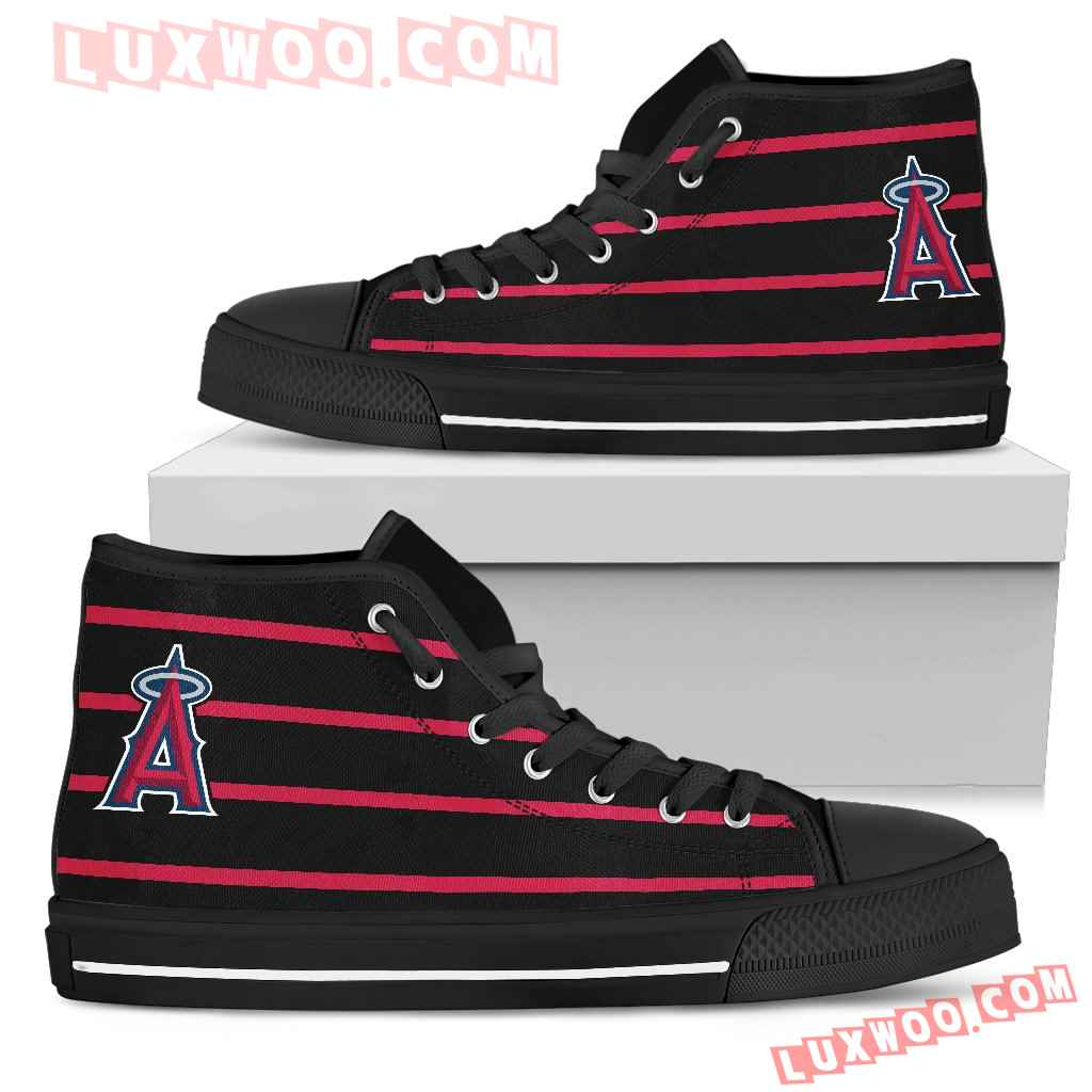 Edge Straight Perfect Circle Los Angeles Angels High Top Shoes