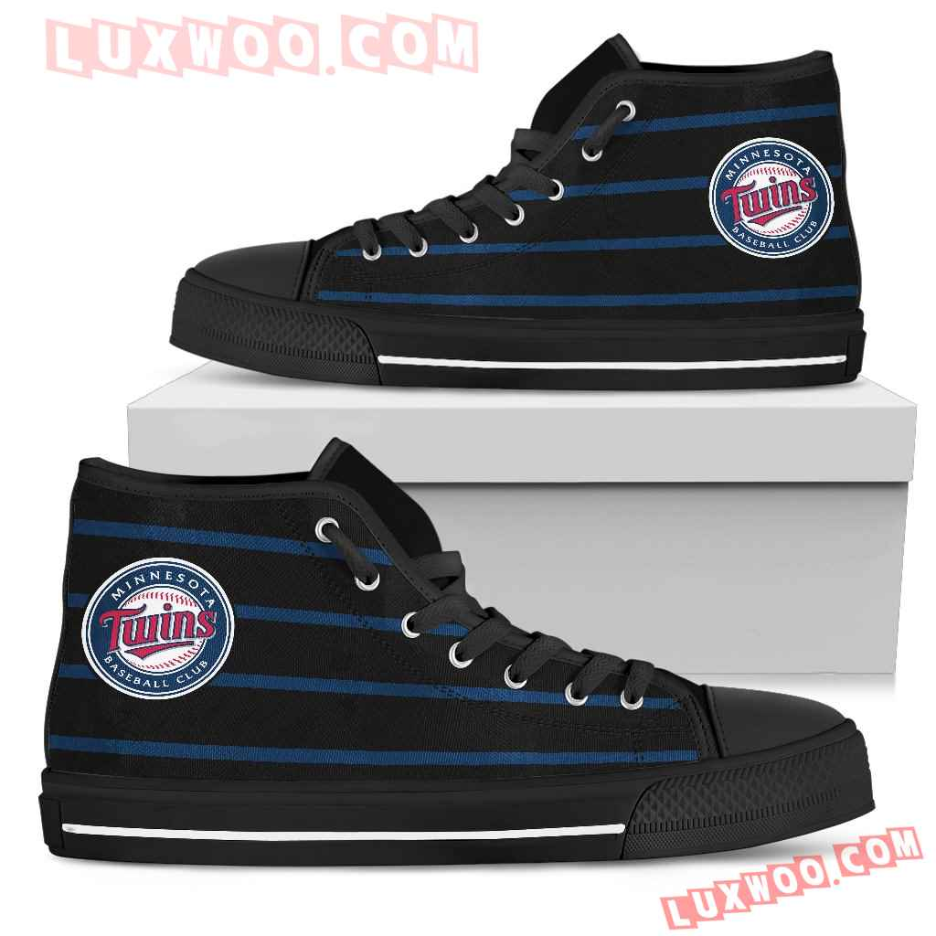 Edge Straight Perfect Circle Minnesota Twins High Top Shoes