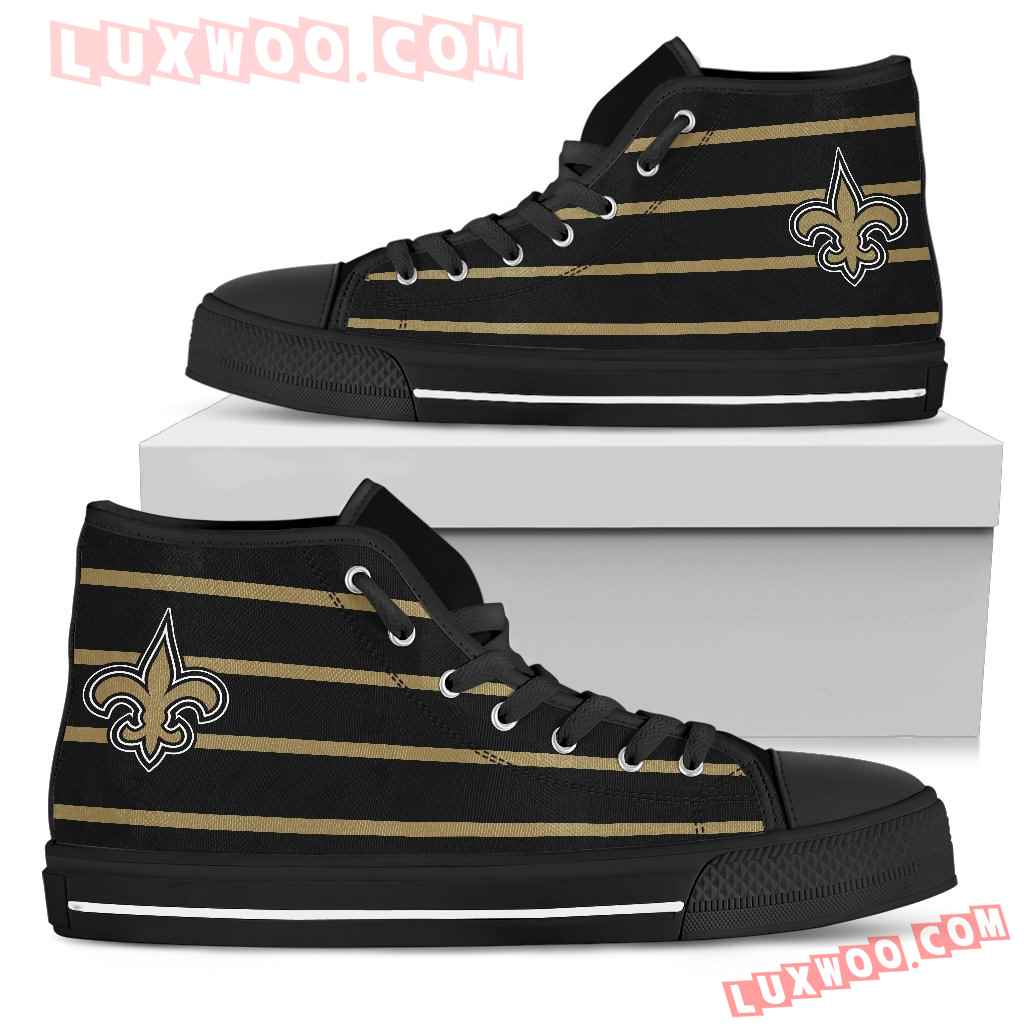 Edge Straight Perfect Circle New Orleans Saints High Top Shoes
