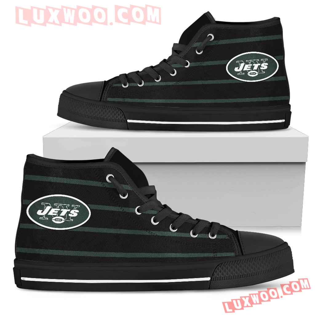 Edge Straight Perfect Circle New York Jets High Top Shoes