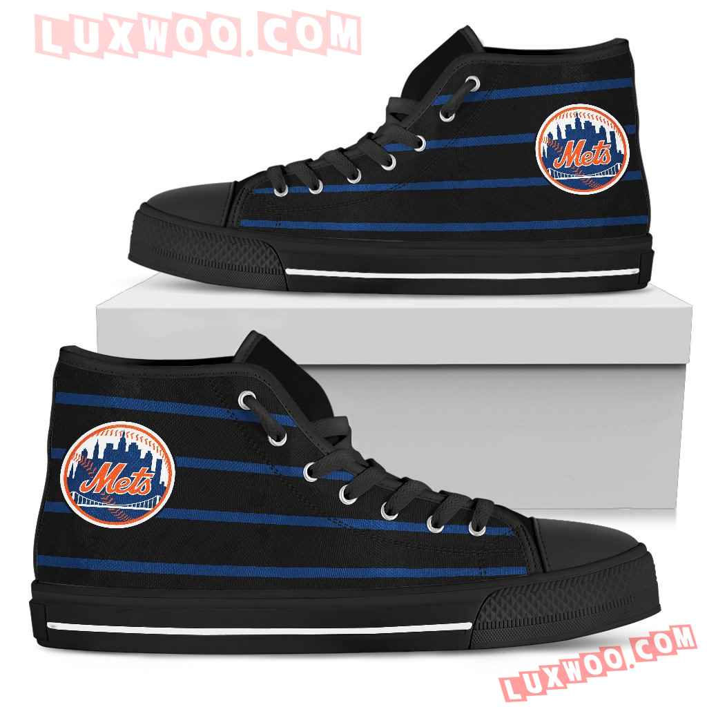 Edge Straight Perfect Circle New York Mets High Top Shoes