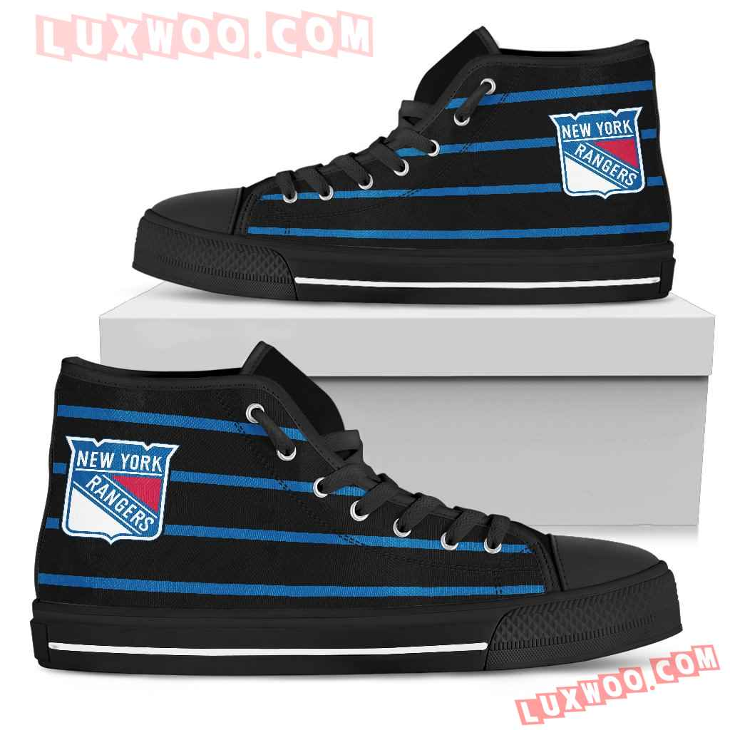 Edge Straight Perfect Circle New York Rangers High Top Shoes