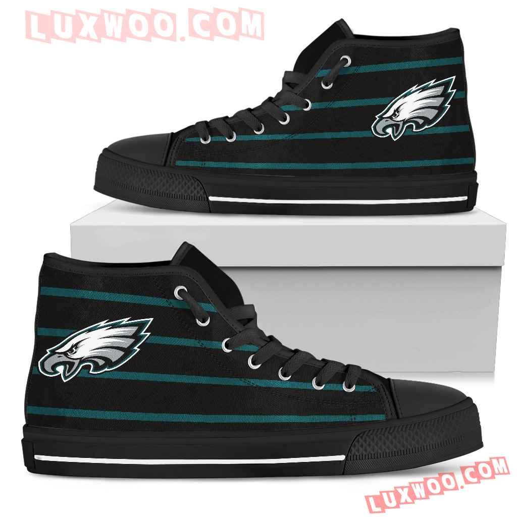 Edge Straight Perfect Circle Philadelphia Eagles High Top Shoes