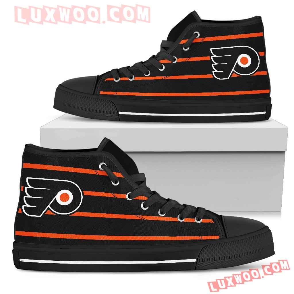Edge Straight Perfect Circle Philadelphia Flyers High Top Shoes