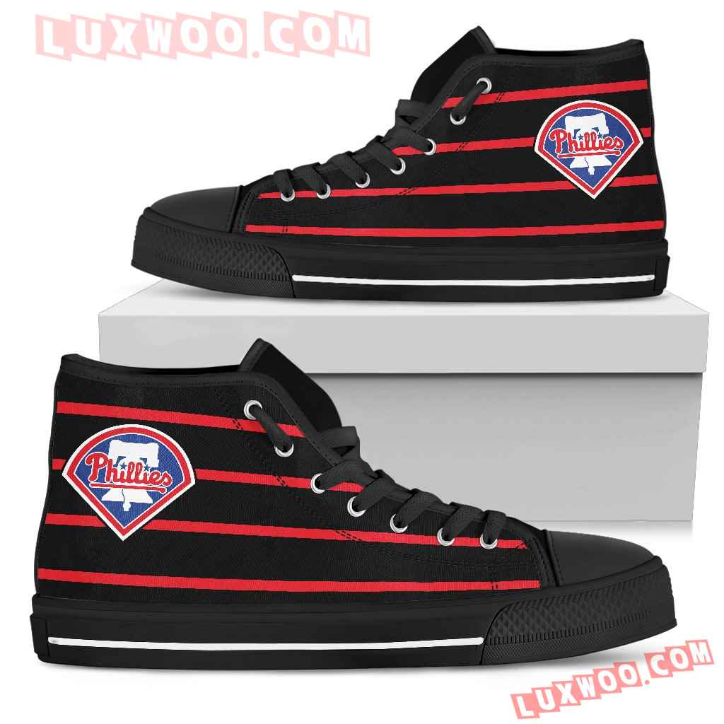 Edge Straight Perfect Circle Philadelphia Phillies High Top Shoes