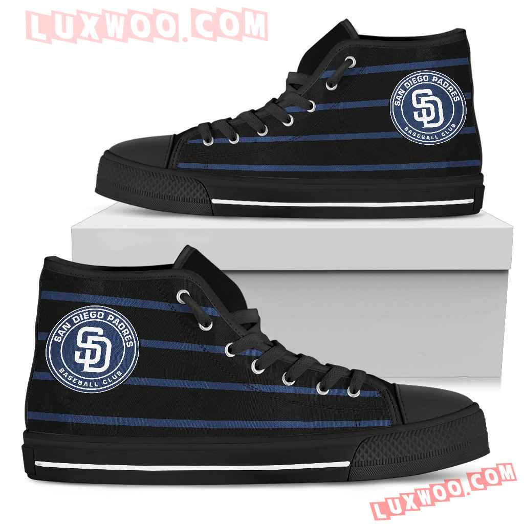 Edge Straight Perfect Circle San Diego Padres High Top Shoes