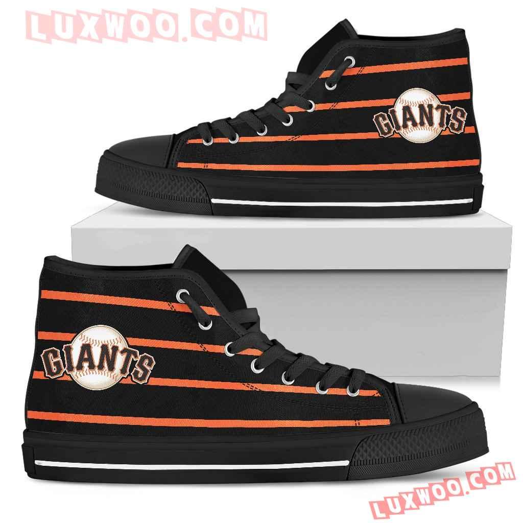 Edge Straight Perfect Circle San Francisco Giants High Top Shoes