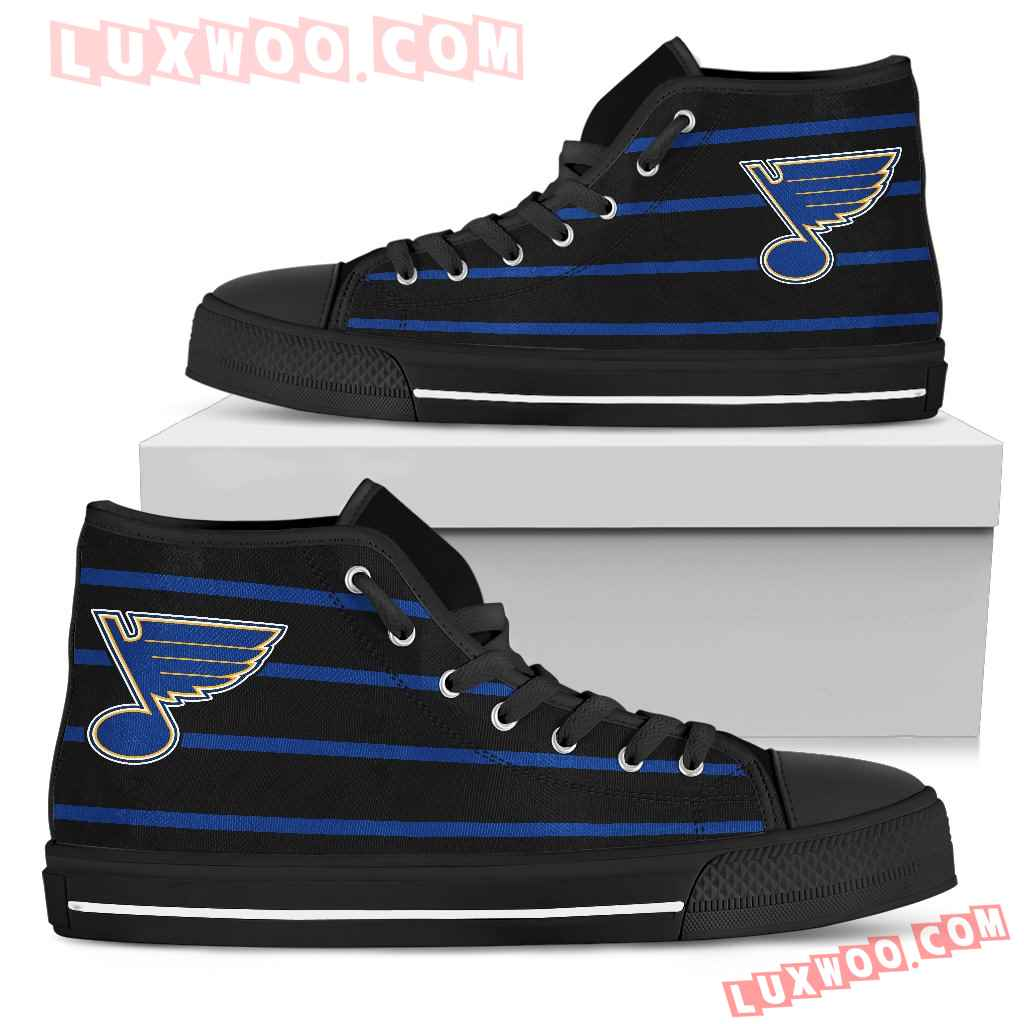 Edge Straight Perfect Circle St Louis Blues High Top Shoes