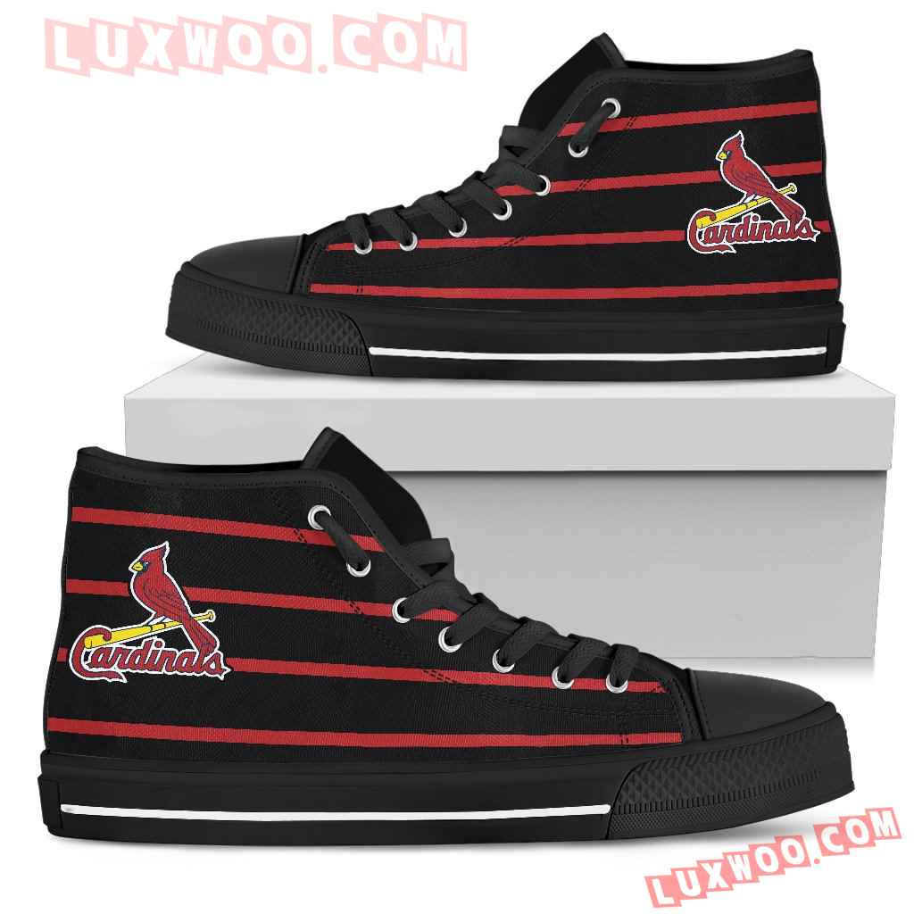 Edge Straight Perfect Circle St Louis Cardinals High Top Shoes