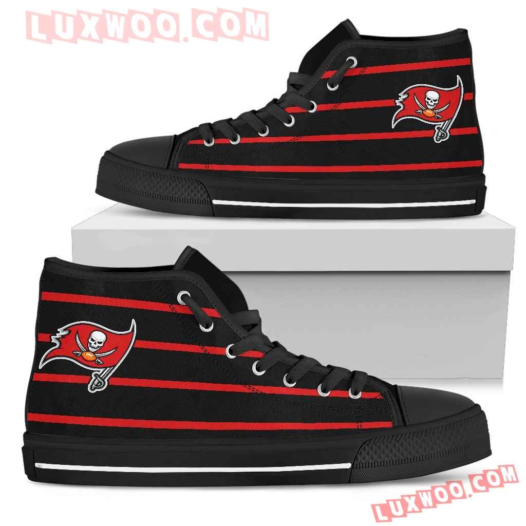 Edge Straight Perfect Circle Tampa Bay Buccaneers High Top Shoes