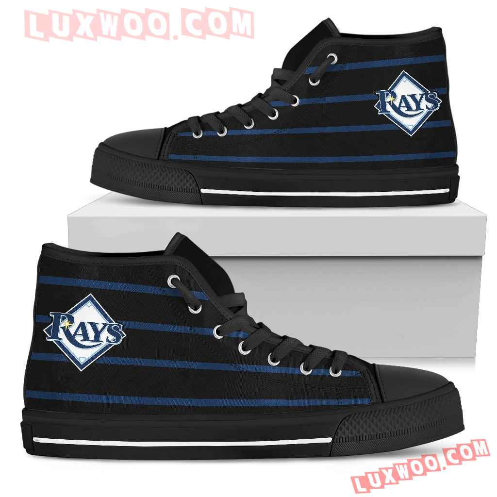 Edge Straight Perfect Circle Tampa Bay Rays High Top Shoes