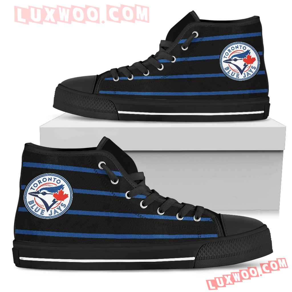 Edge Straight Perfect Circle Toronto Blue Jays High Top Shoes