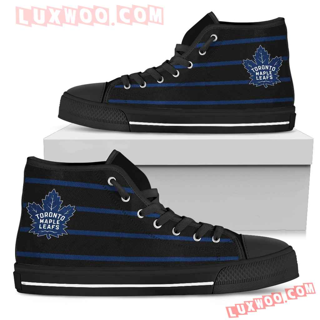 Edge Straight Perfect Circle Toronto Maple Leafs High Top Shoes