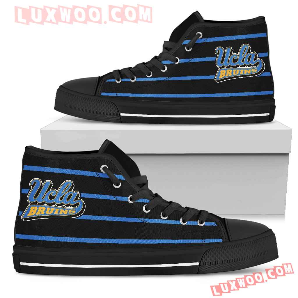 Edge Straight Perfect Circle Ucla Bruins High Top Shoes