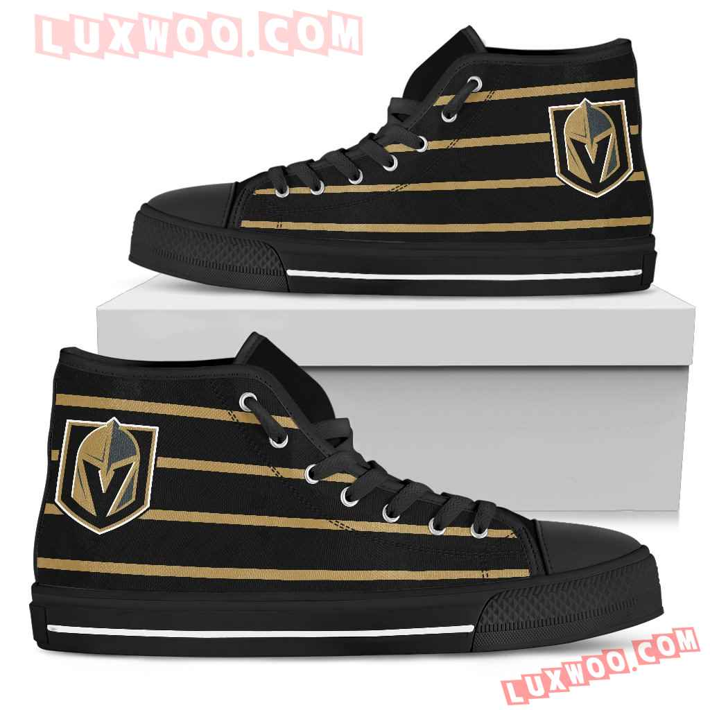 Edge Straight Perfect Circle Vegas Golden Knights High Top Shoes