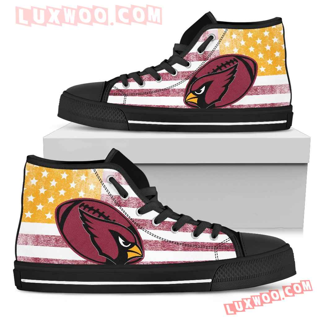 Flag Rugby Arizona Cardinals High Top Shoes