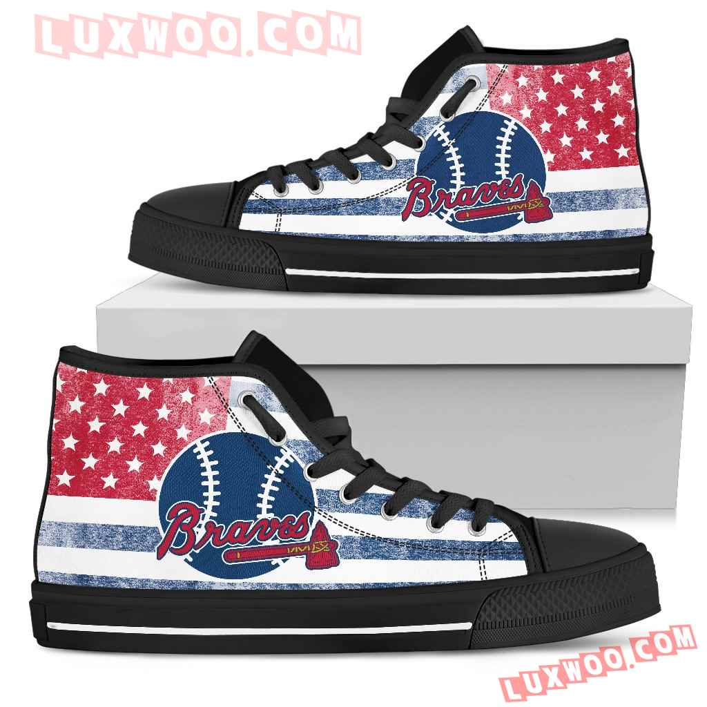 Flag Rugby Atlanta Braves high Top Shoes