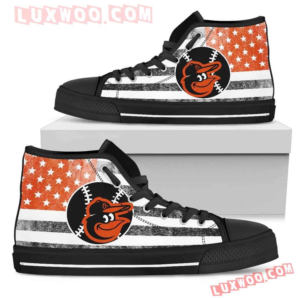 Flag Rugby Baltimore Orioles high Top Shoes
