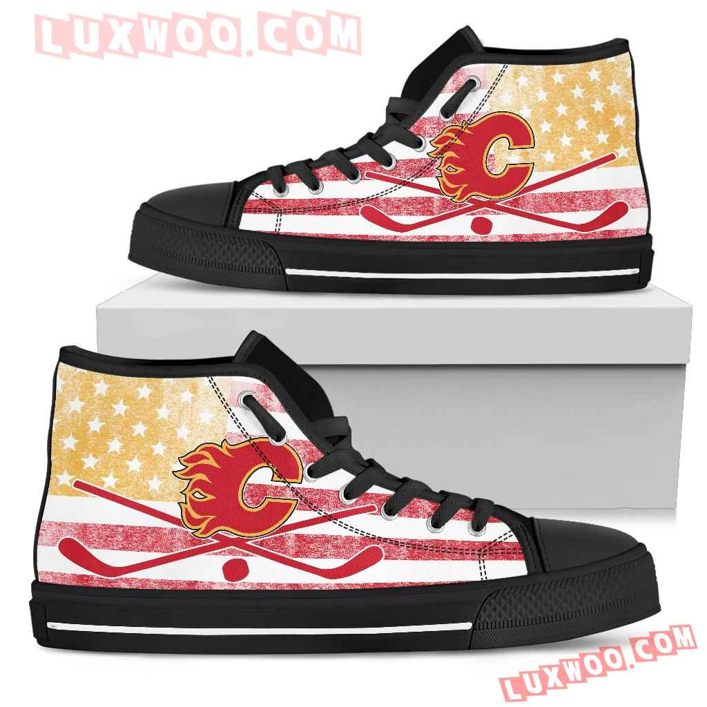 Flag Rugby Calgary Flames High Top Shoes
