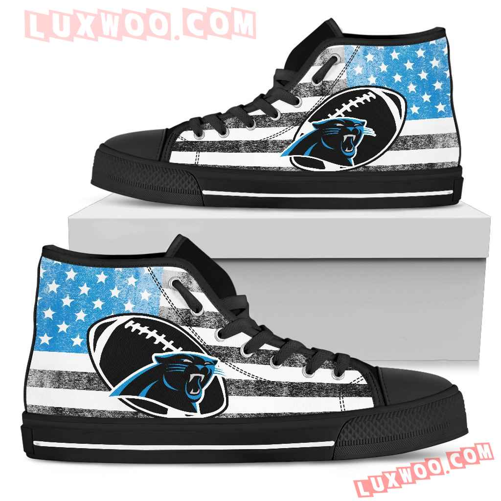 Flag Rugby Carolina Panthers High Top Shoes