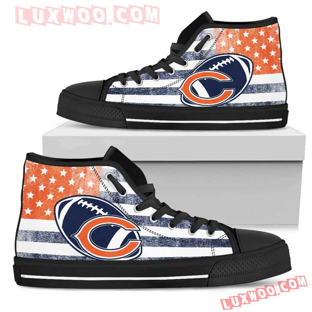Flag Rugby Chicago Bears High Top Shoes