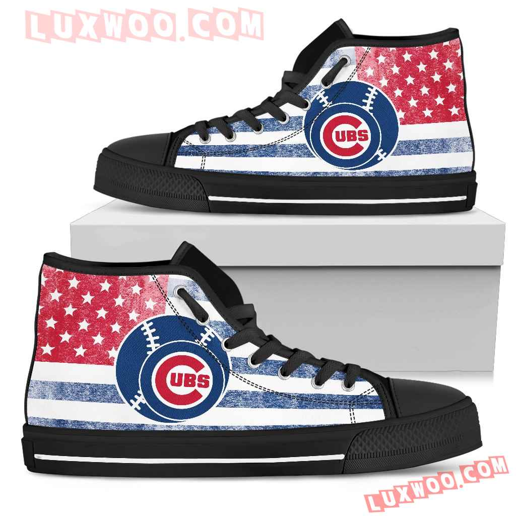Flag Rugby Chicago Cubs high Top Shoes