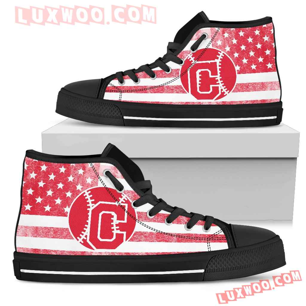 Flag Rugby Cleveland Indians High Top Shoes