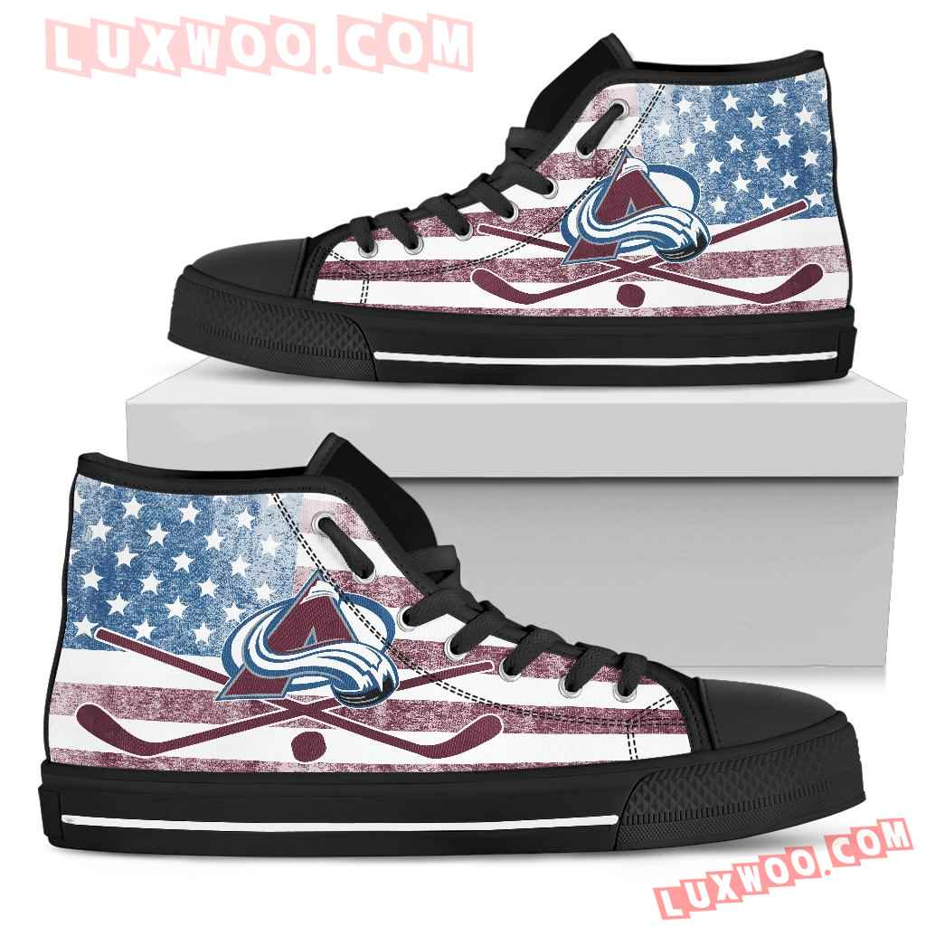 Flag Rugby Colorado Avalanche High Top Shoes