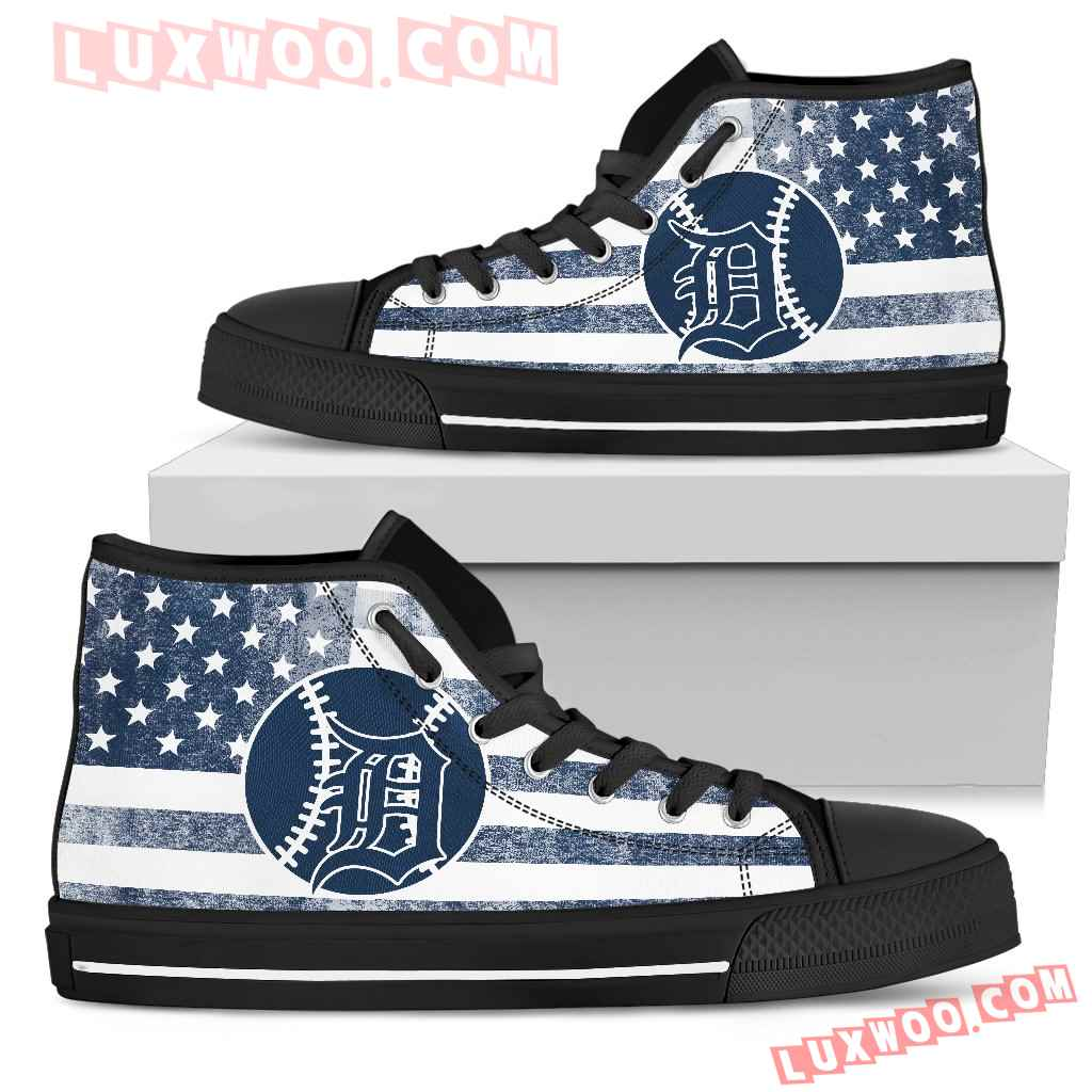 Flag Rugby Detroit Tigers High Top Shoes