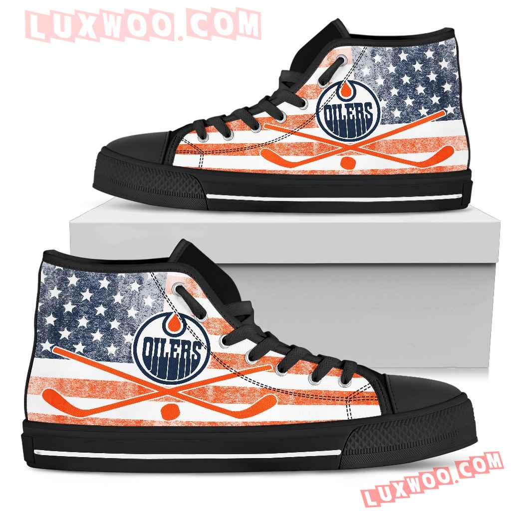Flag Rugby Edmonton Oilers High Top Shoes
