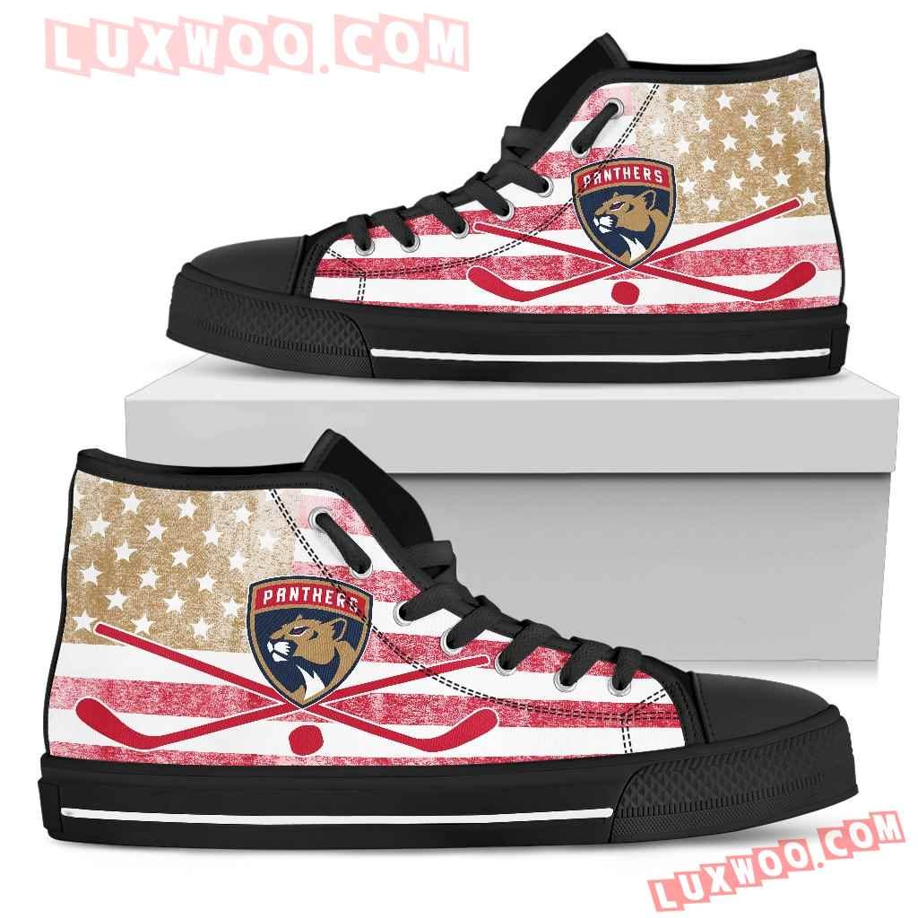 Flag Rugby Florida Panthers High Top Shoes