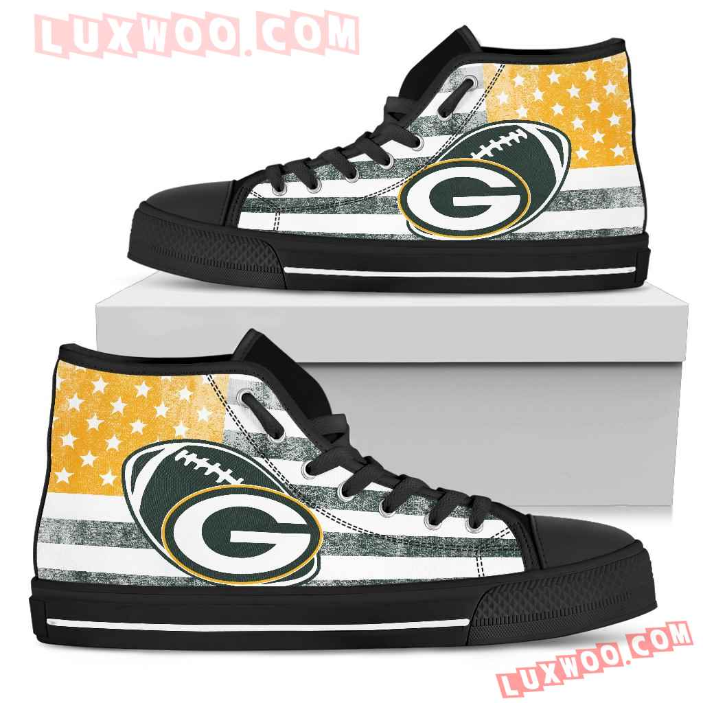 Flag Rugby Green Bay Packers High Top Shoes