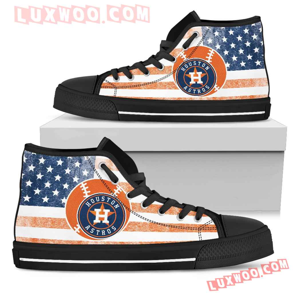 Flag Rugby Houston Astros High Top Shoes
