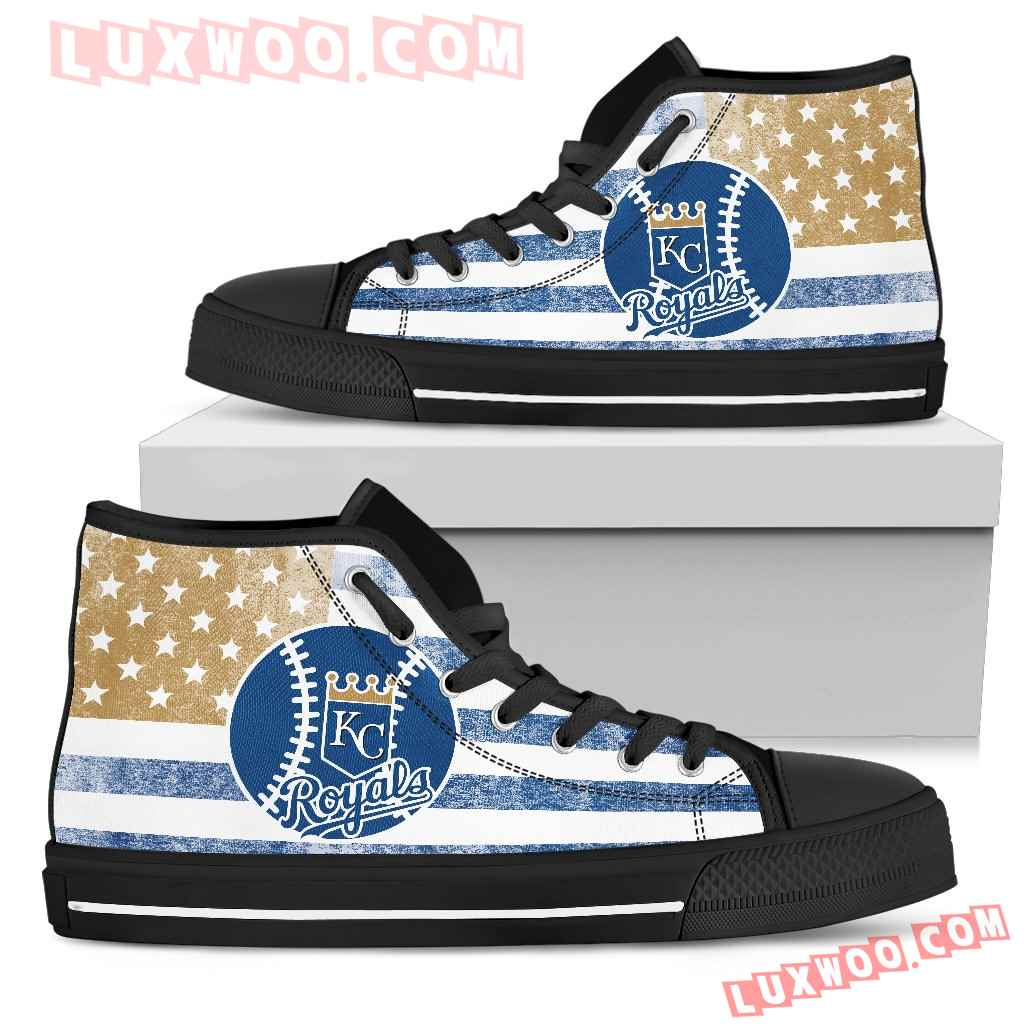 Flag Rugby Kansas City Royals High Top Shoes
