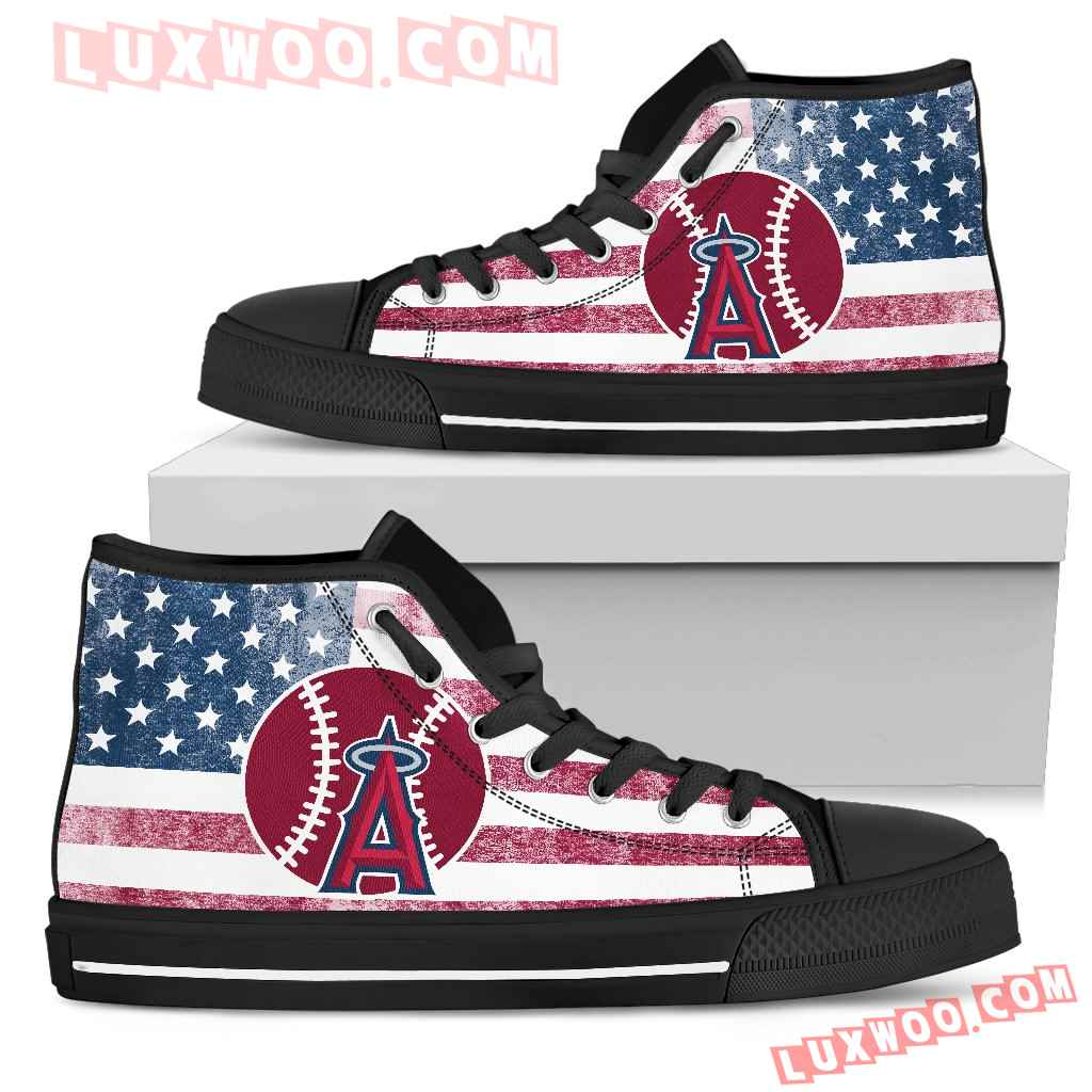Flag Rugby Los Angeles Angels High Top Shoes
