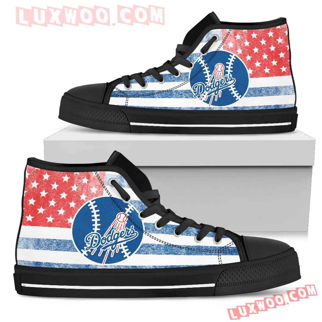Flag Rugby Los Angeles Dodgers High Top Shoes