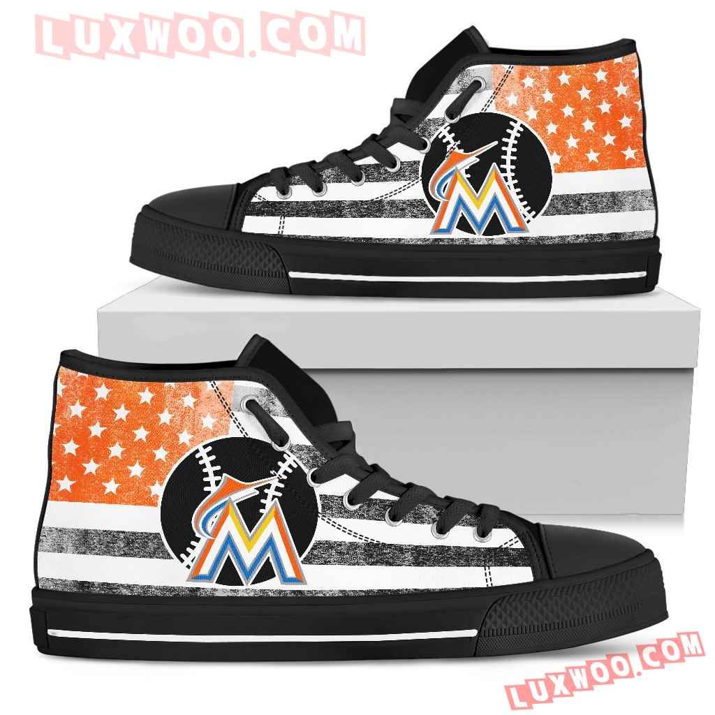 Flag Rugby Miami Marlins High Top Shoes