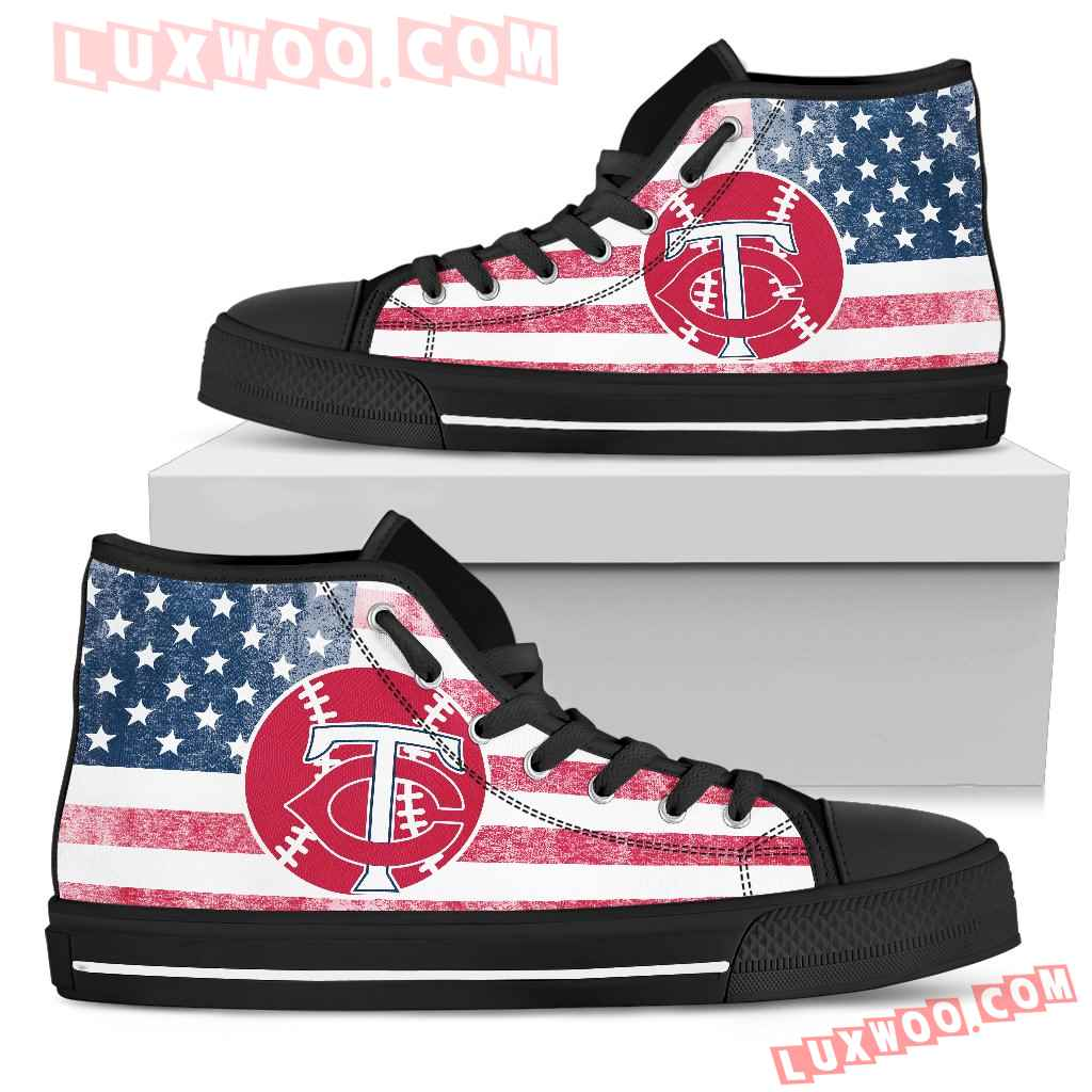 Flag Rugby Minnesota Twins High Top Shoes