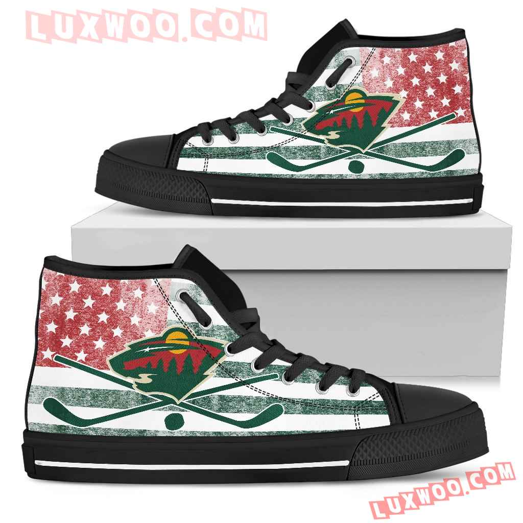 Flag Rugby Minnesota Wild High Top Shoes