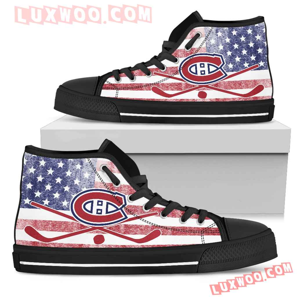 Flag Rugby Montreal Canadiens High Top Shoes