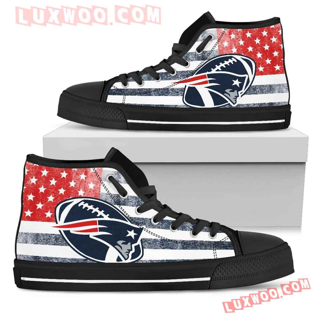 Flag Rugby New England Patriots High Top Shoes