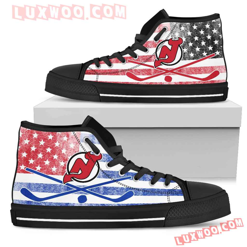 Flag Rugby New Jersey Devils High Top Shoes