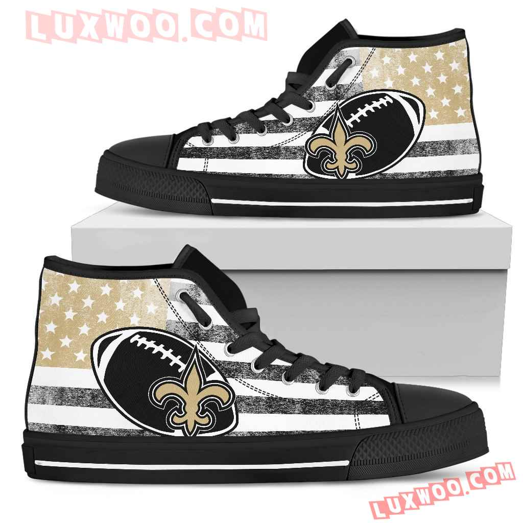 Flag Rugby New Orleans Saints High Top Shoes