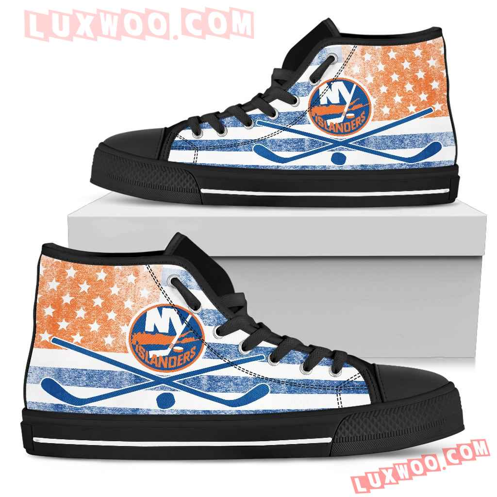 Flag Rugby New York Islanders High Top Shoes