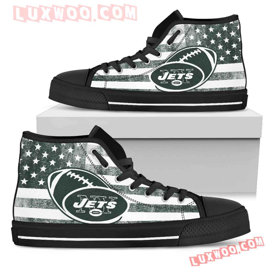 Flag Rugby New York Jets High Top Shoes