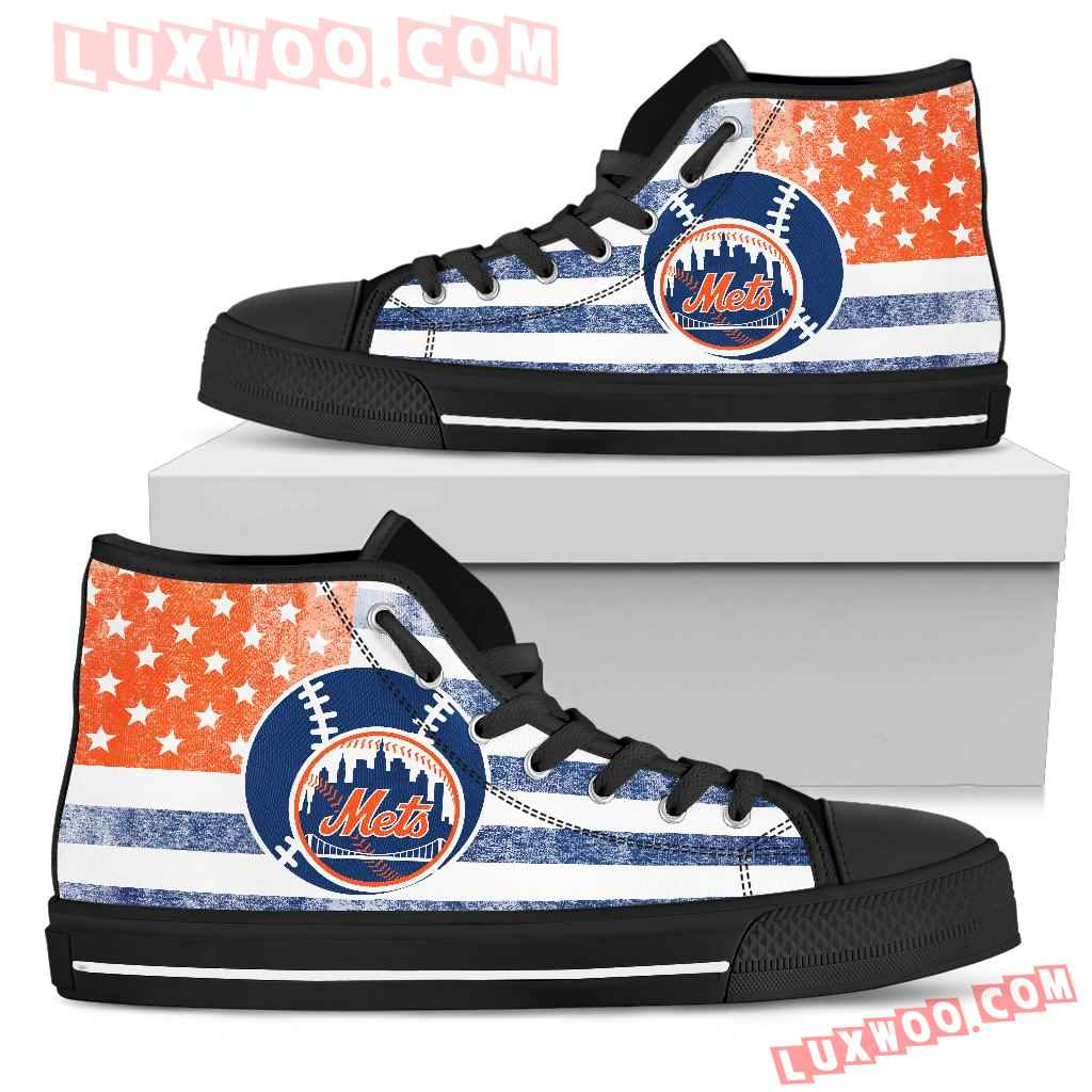 Flag Rugby New York Mets High Top Shoes