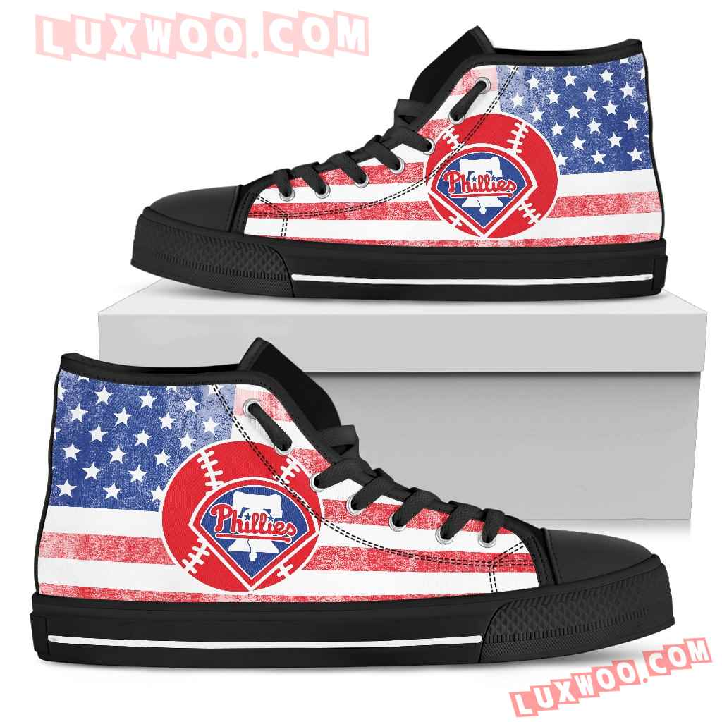 Flag Rugby Philadelphia Phillies High Top Shoes