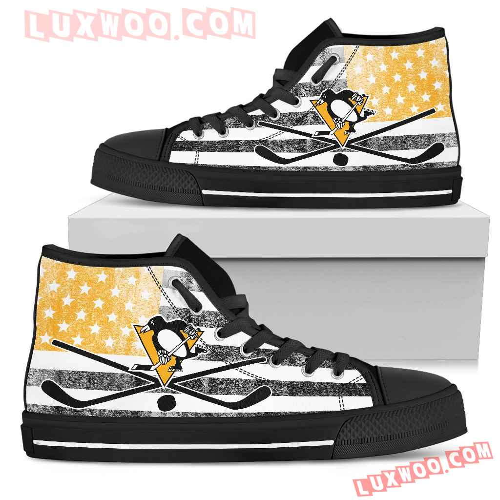 Flag Rugby Pittsburgh Penguins High Top Shoes