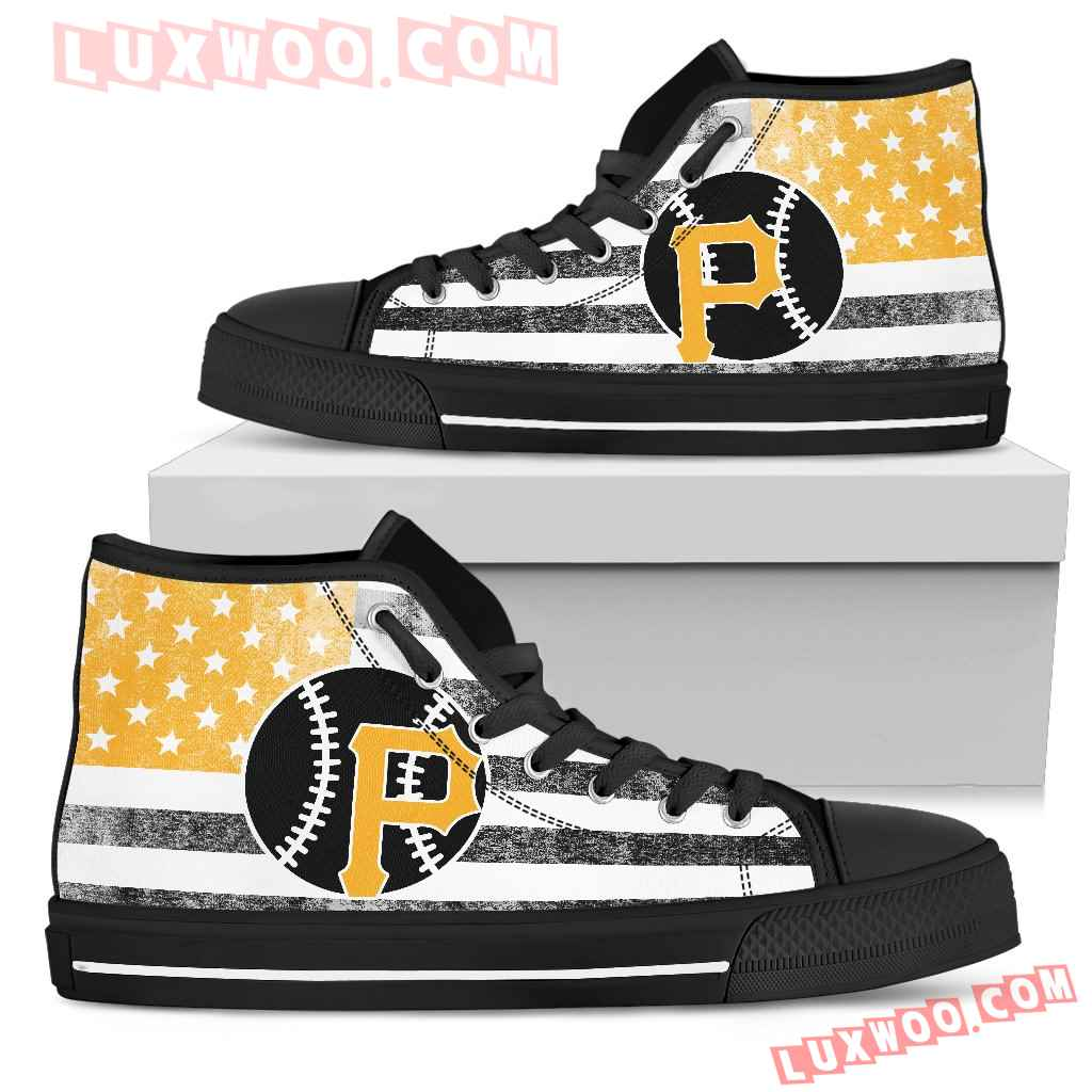 Flag Rugby Pittsburgh Pirates High Top Shoes