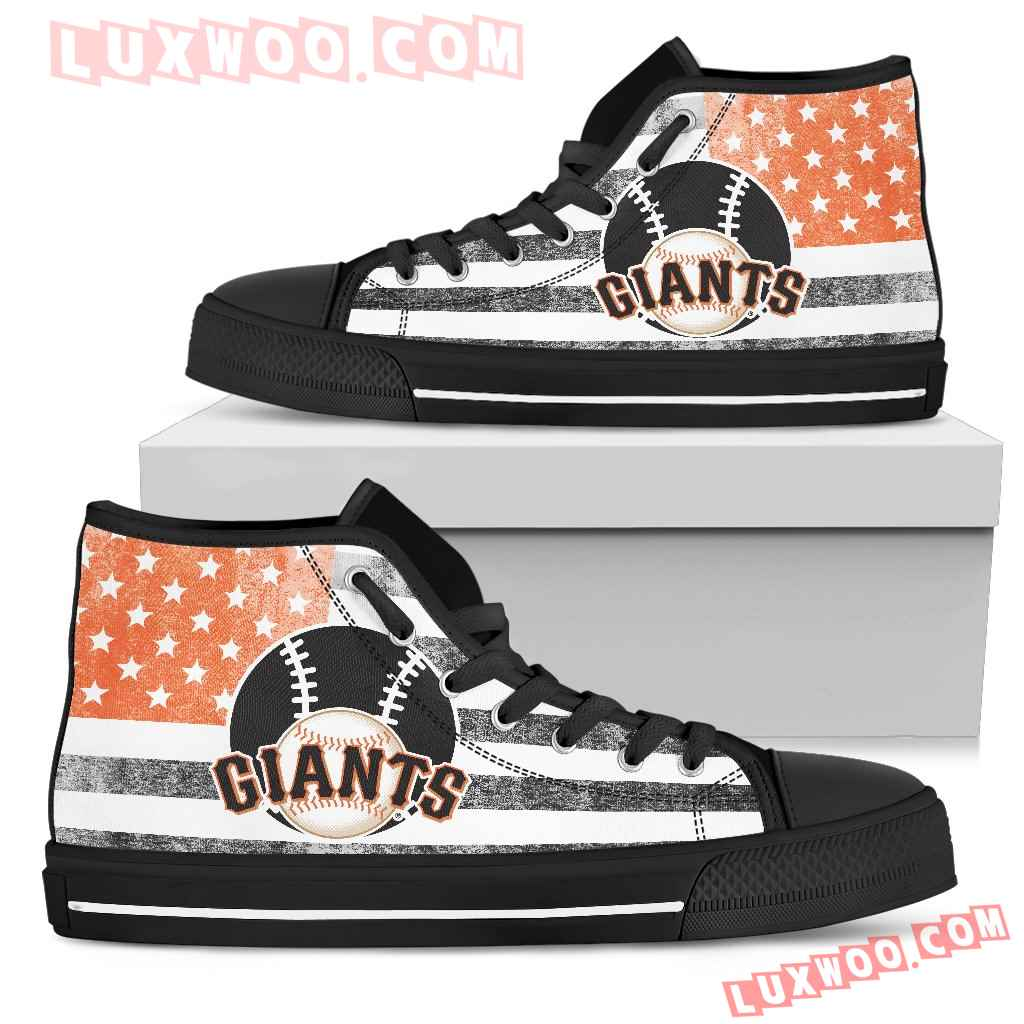Flag Rugby San Francisco Giants High Top Shoes